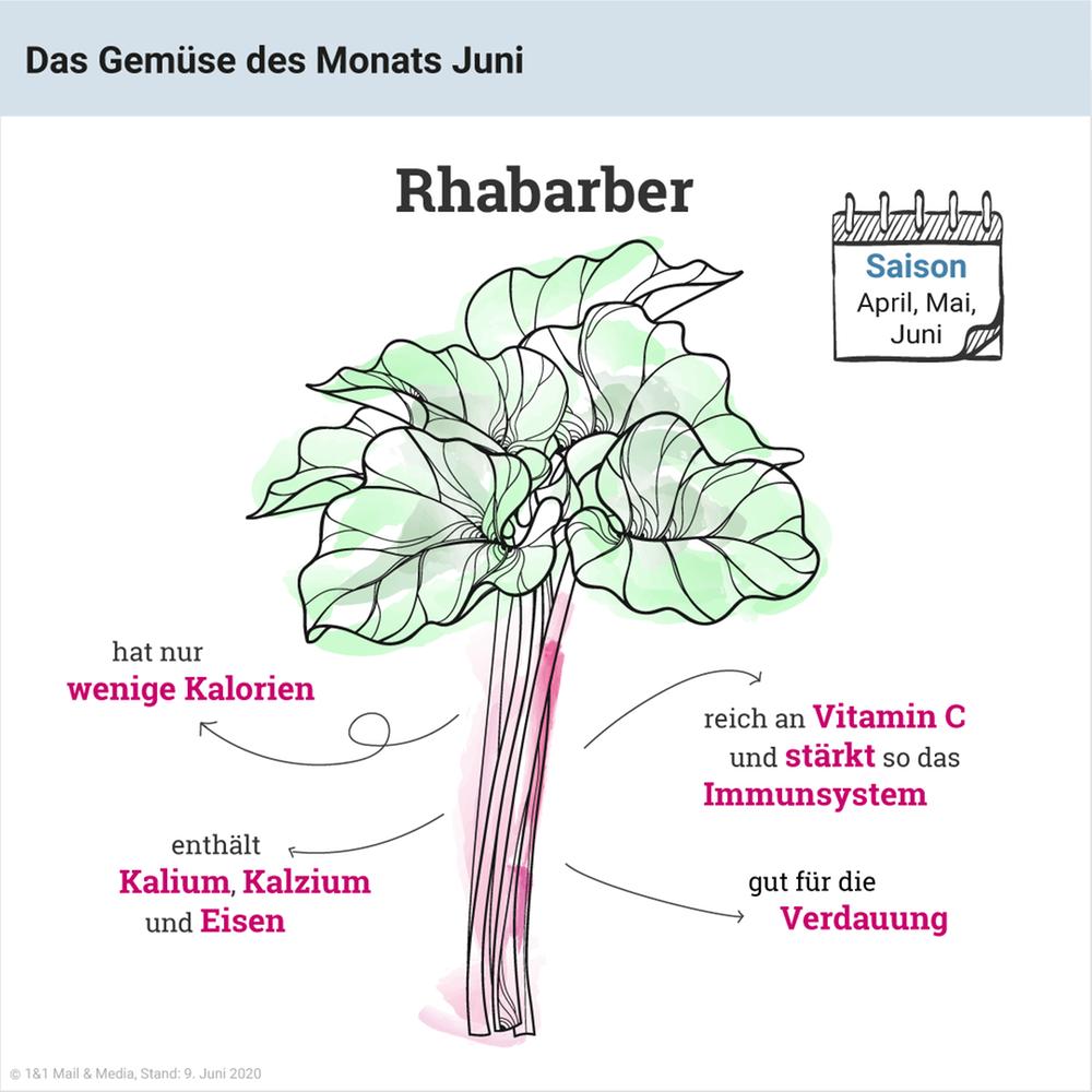 Das Gemüse des Monats Juni: Rhabarber