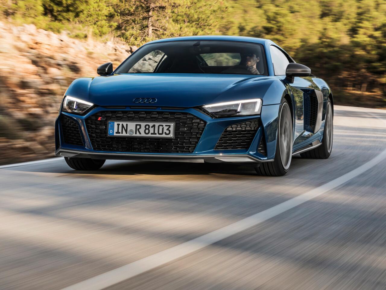 Bild zu Audi R8 Facelift: Coupé und Spyder mit markanterer Front und neuer Technik