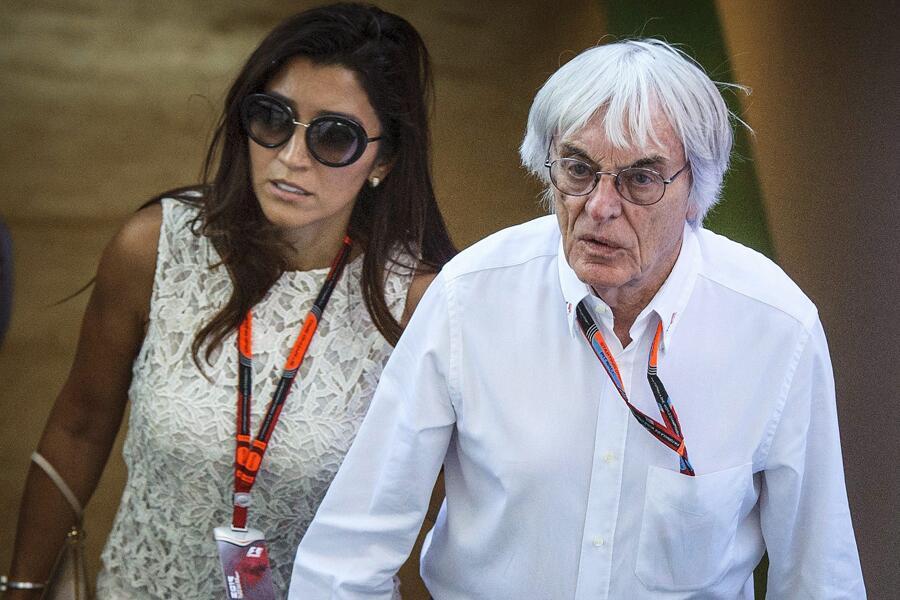Bild zu Bernie Ecclestone mit Ehefrau Fabiana Flosi 2016 in Ungarn