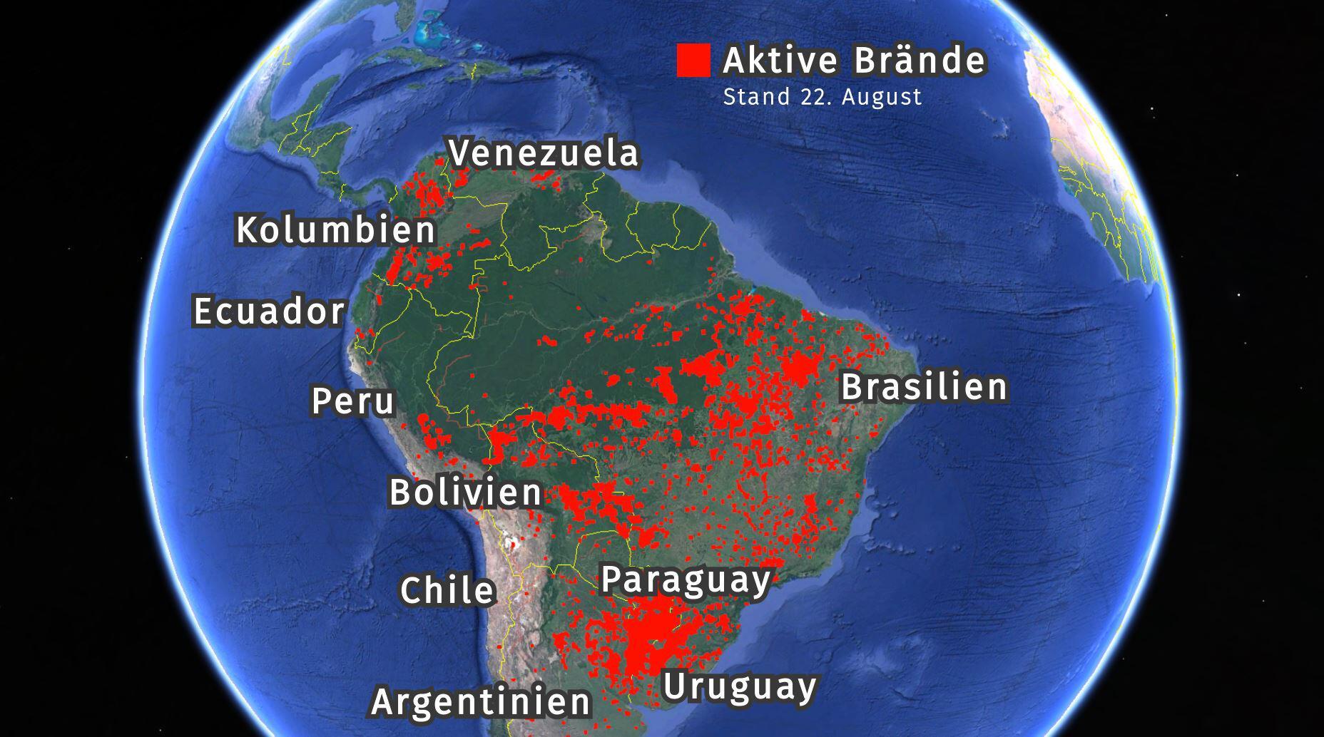 Bild zu Waldbrände Südamerika