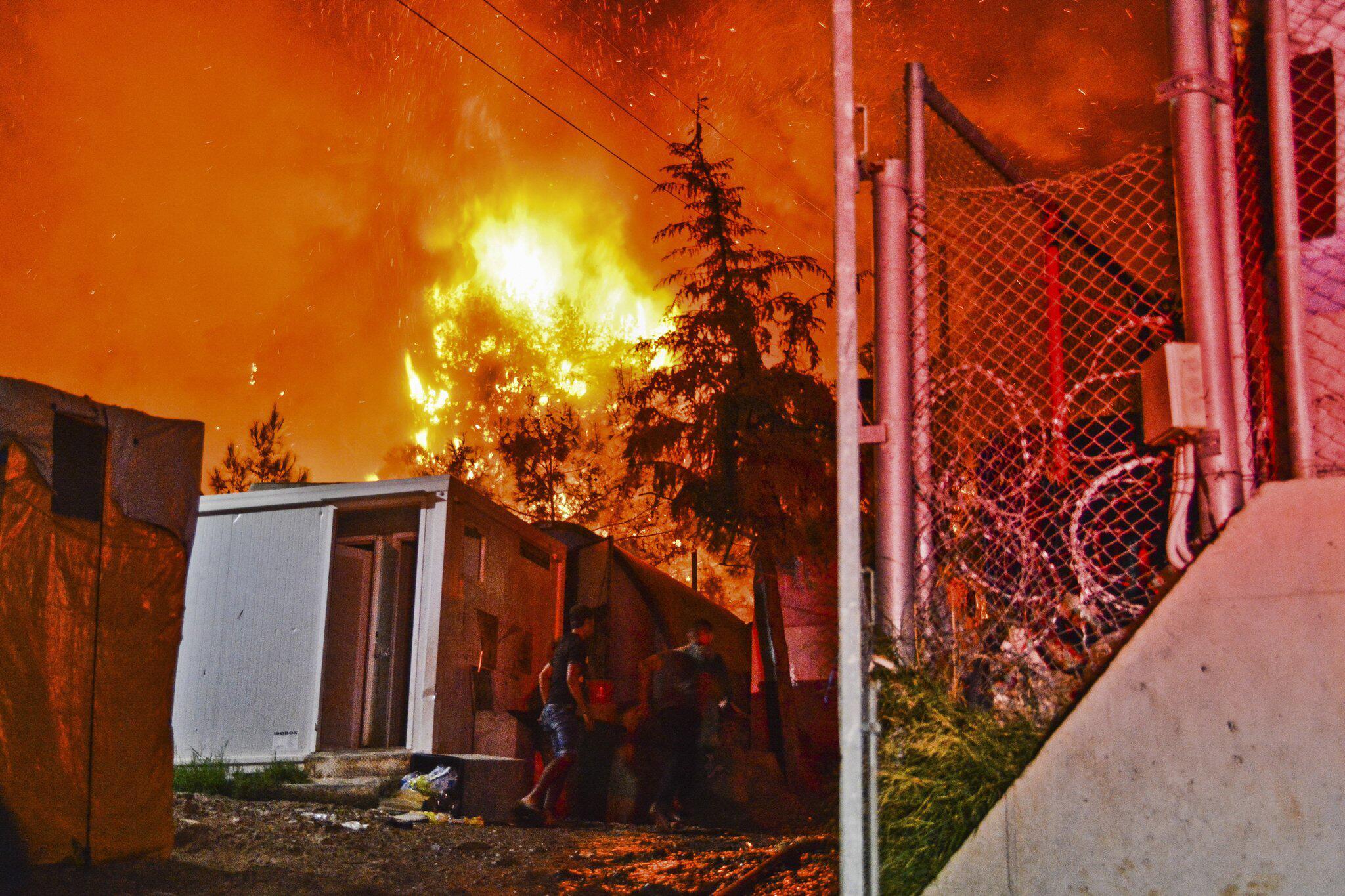 Bild zu Ausschreitungen in Migrantenlager auf Samos