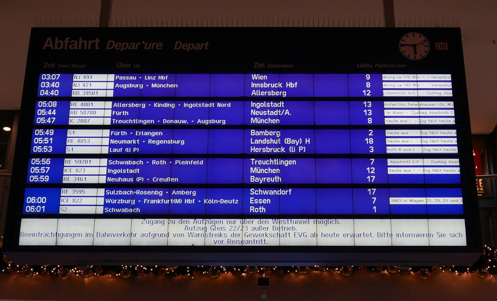 Bild zu Warnstreik bei der Deutschen Bahn