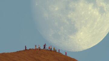 Bild zu Mondaufgang