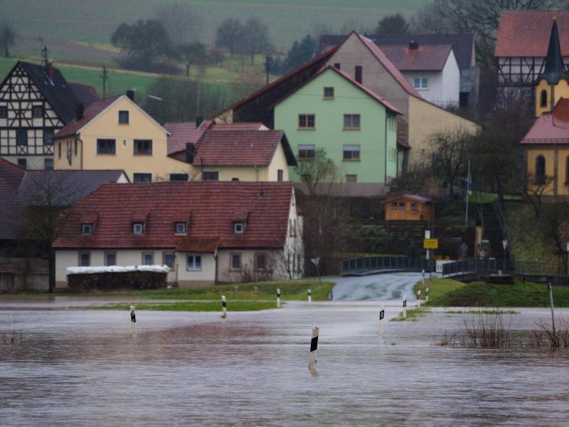 Bild zu Hochwasser in Oberfranken