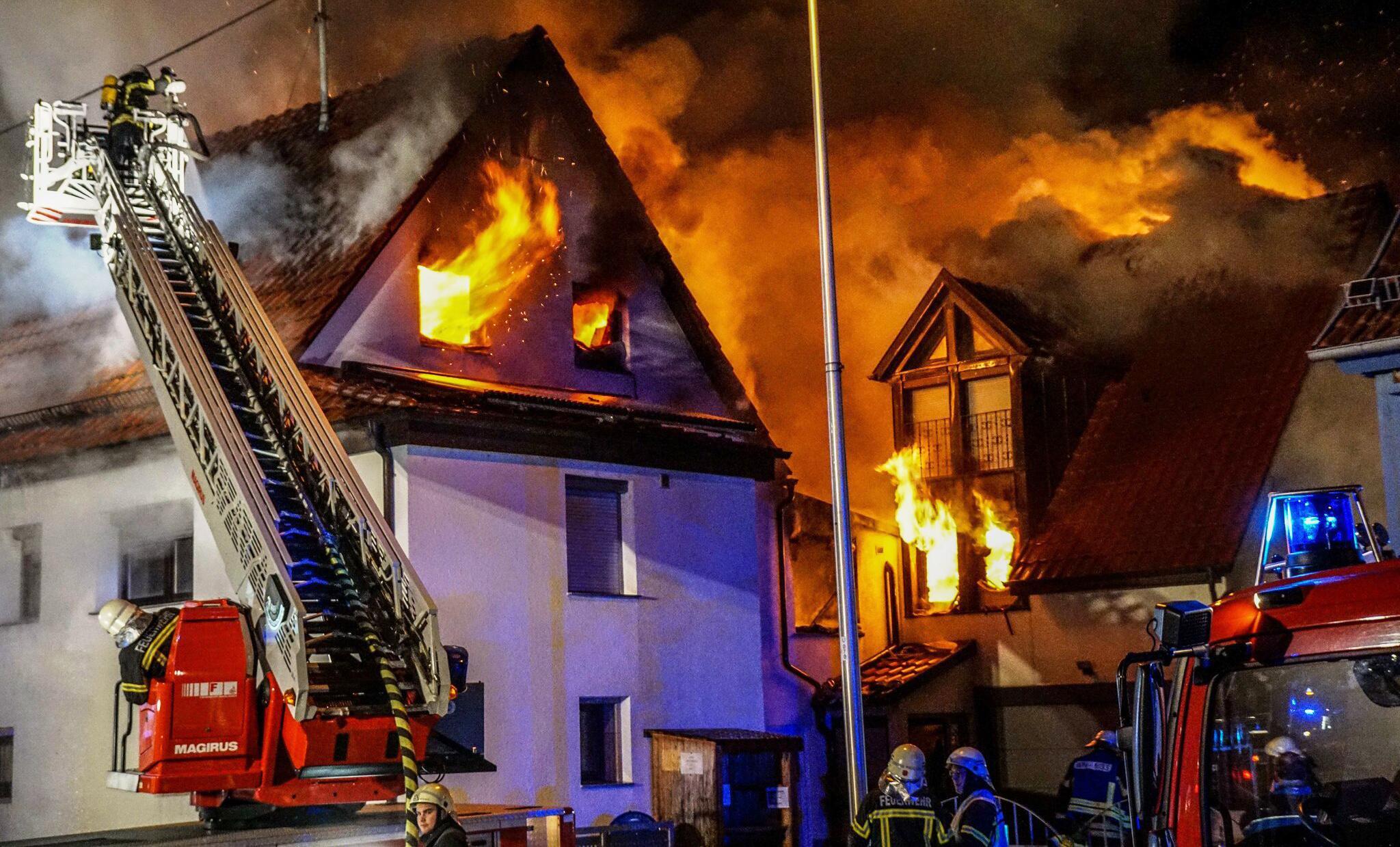 Bild zu Waiblingen, Feuer, Großbrand