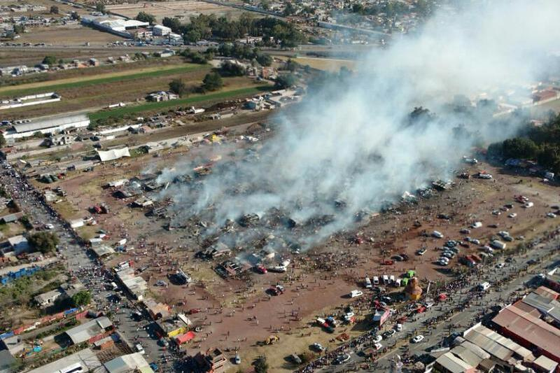 Explosion auf Pyrotechnik-Markt