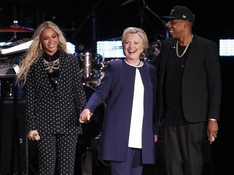 Bild zu Beyoncé und Jay-Z für Hillary Clinton